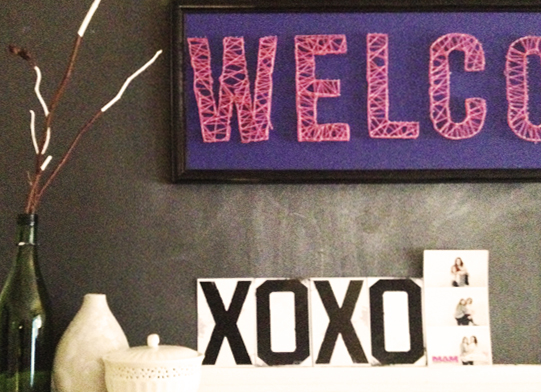 DIY Welcome String Art
