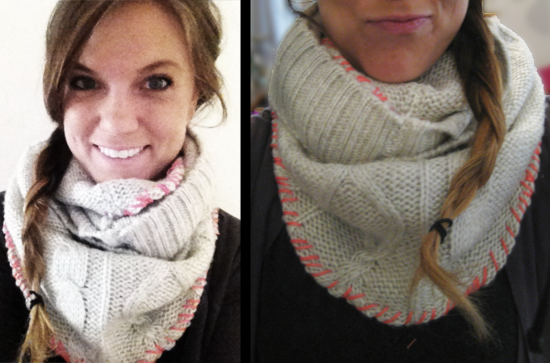DIY Sweater Snood