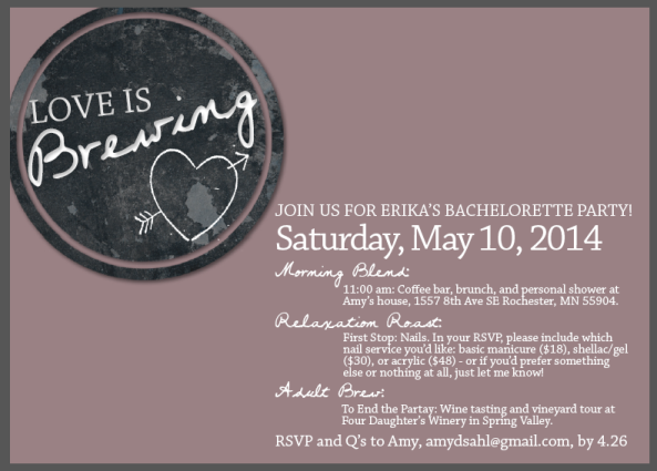 Love is Brewing Bridal Shower Invite