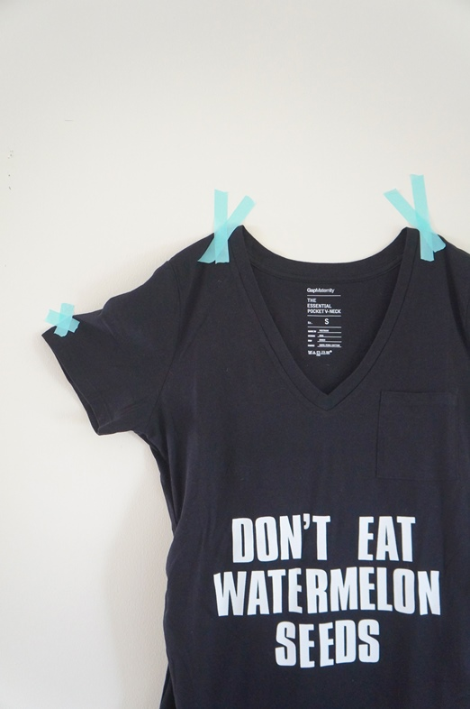 "DIY ""Don't Eat Watermelon Seeds"" Maternity T Shirt"