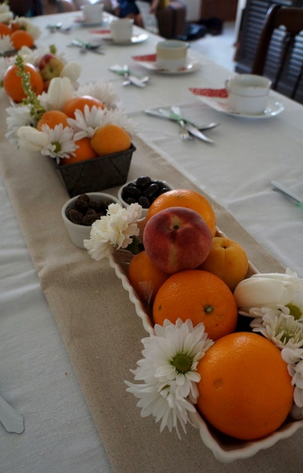 DIY Floral and Fruit Centerpiece